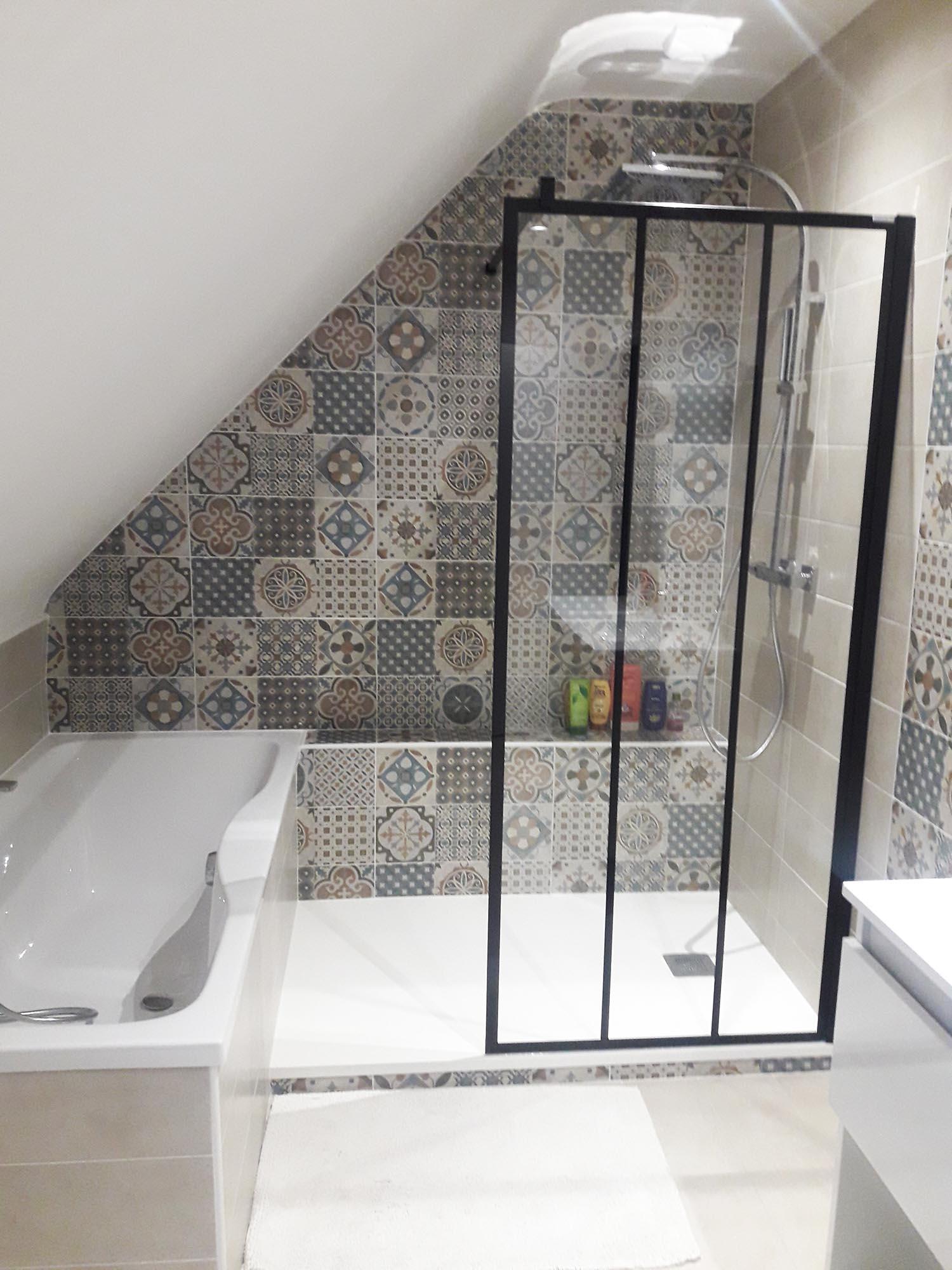 Petite salle de bains sous combles Relecq Kerhuon | Histoire d\'O
