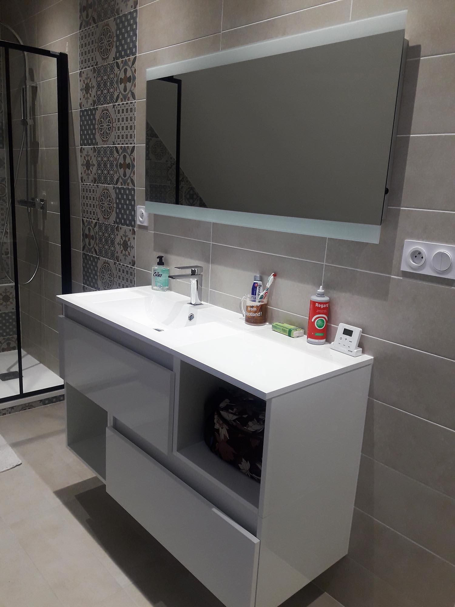 Photo Salle De Bain Sous Comble petite salle de bains sous combles relecq kerhuon | histoire d'o