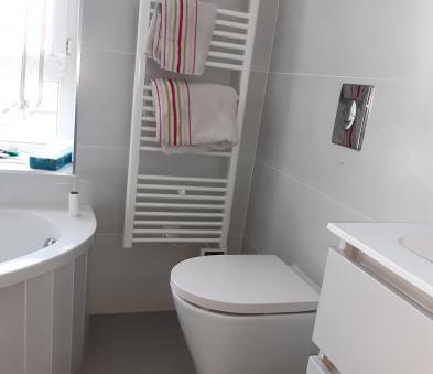 Sèche serviette et WC suspendu